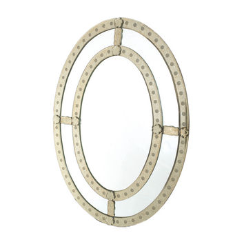 Go Home Oval Antique Trimmed Mirror - 10016