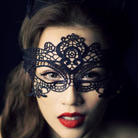 Goth Style,Sexy Lace Mask,Lace Face Mask,Lace Eye Mask,Hallowmas,New Year Celebration,Lace Mysterious Veil,Party Queen,Costume,Handmade