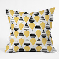 Elisabeth Fredriksson Yellow Drops Throw Pillow