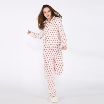 Home Winter Korean Print Thicken Sleepwear [9576701263]