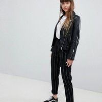 New Look Stripe Pull On Pants at asos.com