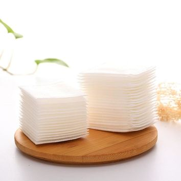 50Pcs/bag Facial Cotton Makeup Cotton Wipes Soft Cosmetic Remover Pads Face Cleansing Paper Wipe Paper Skin Care Remover CO8063