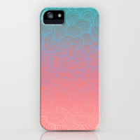Ombre Clam Shells - Mint, Peach, Purple and Pink iPhone Case by micklyn | Society6