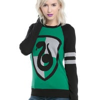 Harry Potter Slytherin Intarsia Girls Pullover Top