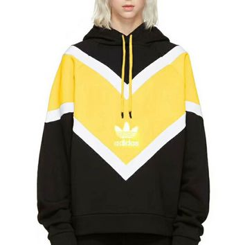 Adidas Trending Fashion Casual Long Sleeve Pullover Splicing Hoodie Sweater G-CN-CFPFGYS