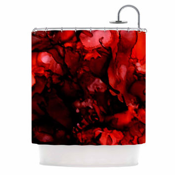 "Claire Day ""Dark Red"" Maroon Shower Curtain"