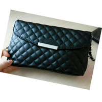 Womens Shoulder Bag Lingge PU Leather Quilted Chain Hasp Handbag Purse GirL Messenger Bags 2017 Hot Bolsos Mujer #7109