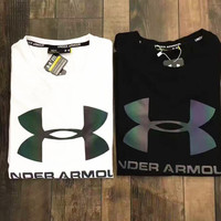 Under Armour Reflective print short sleeve top T-shirt  H-YF-MLBKS