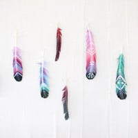 DIY Painted Feathers - Free People Blog