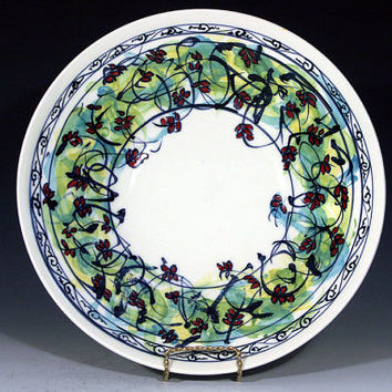 Porcelain bowl, ceramic serving dish, coffee table accessory