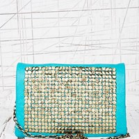 Embellished Cross Body Bag in Teal at Urban Outfitters
