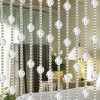New Imitated Crystal Beading Tassel String Curtain Window Door Divider Sheer Curtains Valance Door Windows Panel Curtain