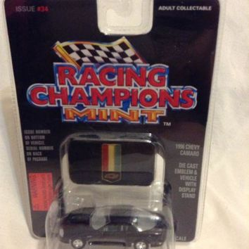 Racing Champions Mint Edition #34 BLACK 1996 Chevy CAMARO 1:59 collectible car
