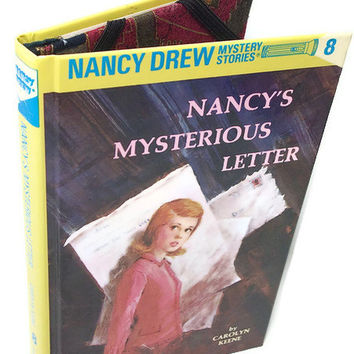 Cover for Kindle Nook or Kobo, Tablet Device Case made from a Nancy Drew Mysterious Letter
