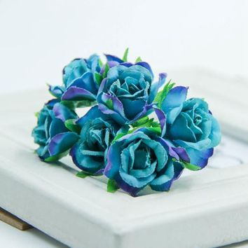 Silk Rose Artificial Bouquet Wreath Flowers
