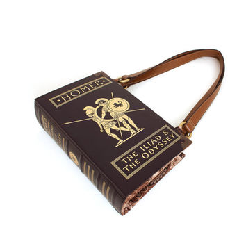 Homer Bookpurse - Purse made from The Iliad and Odyssey Book - Great gift for teacher, librarian, teen or bibliophile
