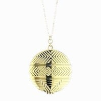 """House of Harlow 1960 14k Yellow Gold-Plated Medallion Locket Necklace, 28"""""""