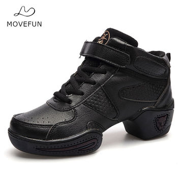MoveFun New Brand Dancing Sneakers for Ladies Soft Jazz Shoes Hip Hop Women Black Dance Shoes Adults Plus Size -13