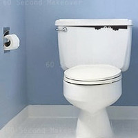 Toilet monster bathroom wall sticker novelty funny decal 29 colors