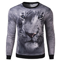 Face Of White Tiger Slim Fit Tee