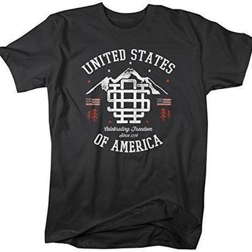 Shirts By Sarah Men's Vintage United States T-Shirt Patriotic America 4th July Shirt