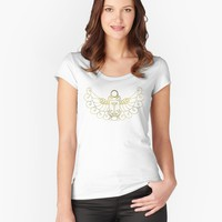 'Simple Scarab' Women's Fitted Scoop T-Shirt by cantAbscond