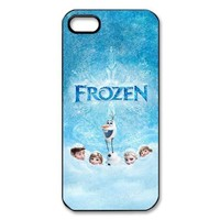 Frozen Newest 3D Cartoon Movie Cute Custom Hard Plastic Back Case Cover for iPhone 5 5S