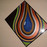 Original Painting Chaos Tear Drop by CanadianCraftCritter on Etsy