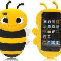 Bee Movie - Cute Cartoon Bumble Yellow Bee Silicone Full Cover Case for iPod Touch 4 iTouch 4