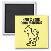 Funny Not a Morning Person Fridge Magnets