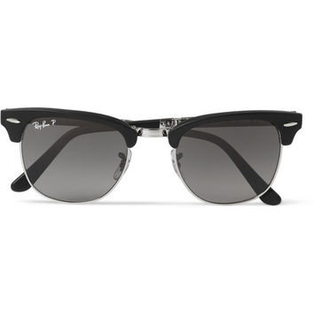 Ray-Ban - Clubmaster Folding Acetate and Metal Polarised Sunglasses | MR PORTER