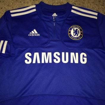 Sale!! Vintage Adidas CHELSEA Fc Home Soccer Jersey CFC England Football Shirt