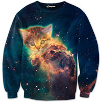 Exploding Space Kitten Crewneck