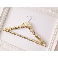 Sequin Hanger, Gold Sequin Hanger, Bridal Hanger, Wedding Dress Hanger, Boutique Hanger, Gold Hanger, Dress up hanger