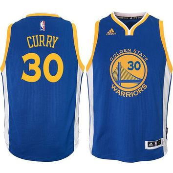 Youth Golden State Warriors Stephen Curry Royal Swingman Basketball Jersey