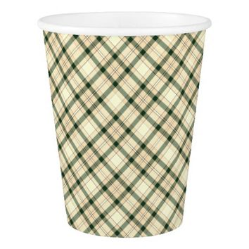 Christmas Plaid 16-PAPER CUPS