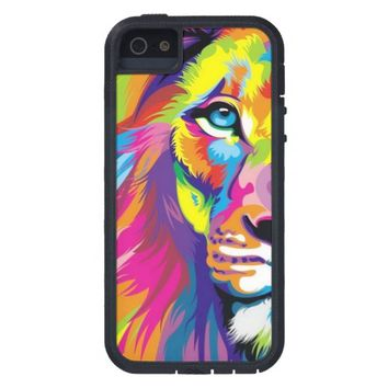 Colorful Lion Tough Xtreme iPhone 5 Case