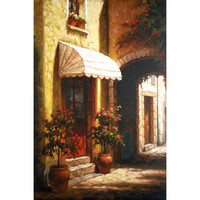 North American Art NC1031 Sunny Entrance by Steven Harvey: 36 x 24 Canvas Giclee