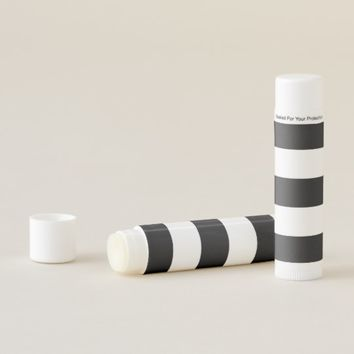 Black White Stripes Lip Balm