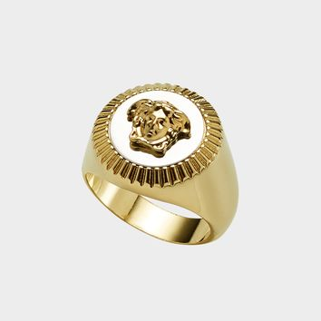 Versace Guilloche Medusa Ring for Women | US Online Store