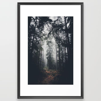 Dark paths Framed Art Print by HappyMelvin
