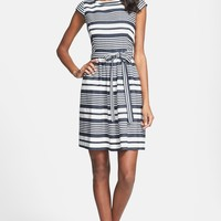 Betsey Johnson Belted Stripe Dress
