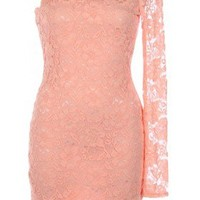 The 2013 Peach One Shoulder Dress - 29 N Under