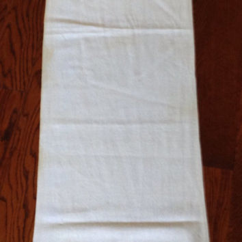 Folk Inspired Swedish Style Long Table Runner or Tablecloth Hand Made Stitched and Embroidered