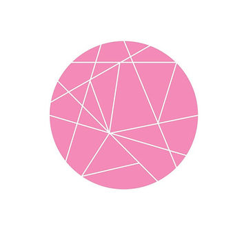 Geometric Round Printable Pink - Valentine's Print - Geometric Print - Wall Prints Download - Geometric Download - Minimalist Print