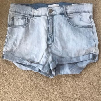 Garage High Waisted Jean Shorts