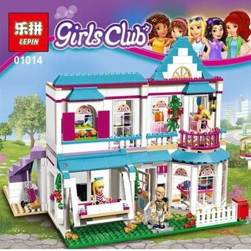 Model building kits Girl Series Friends The Romantic Doll Stephanie\'s House Set Compatible with Lego 41314 Brick figure toys