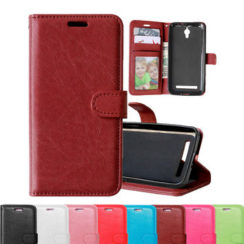Leather Wallet Stand Case For ASUS ZenFone C Phone Case Fashion Wallet Flip Design Phone Bag For ASUS Zenfone C ZC451CG holster