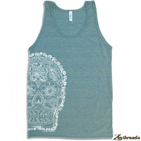 Unisex Day Of The DEAD 2 Tri Blend Tank american apparel XS S M L XL (5 Color Options)