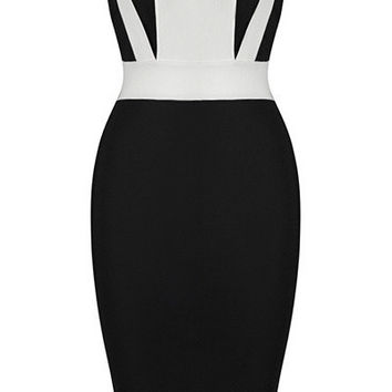 'Olesya' Colorblock Bandage Dress